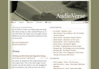 Screenshot of original AudioVerse homepage