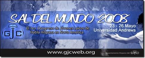 Logotipo de GYC en Español 2008: Sal del Mundo