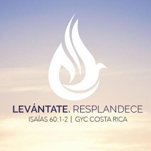 Logotipo de GYC Costa Rica 2017: Levántate. Resplandece.
